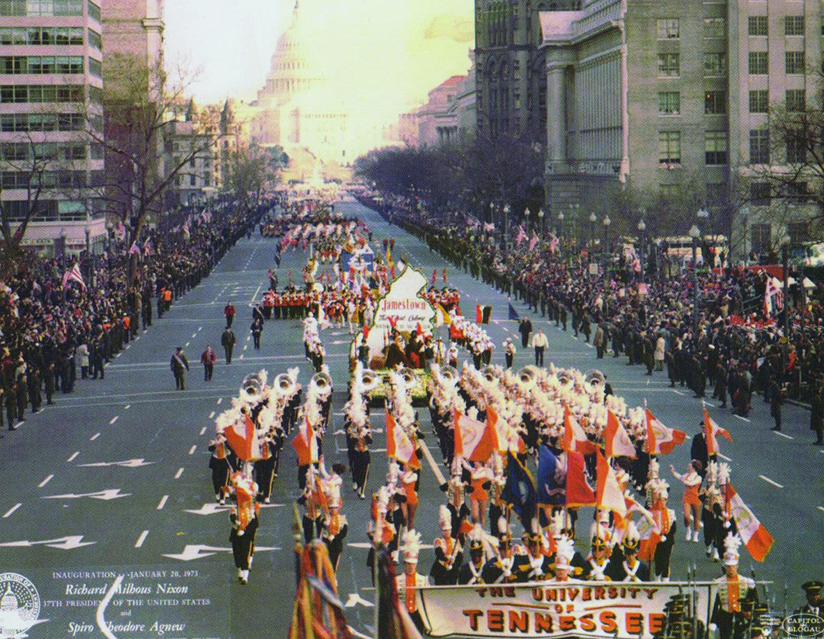 Inaugural parade for President Richard Nixon, 1973