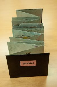 BOOM! Artist book in UT Libraries Special Collections