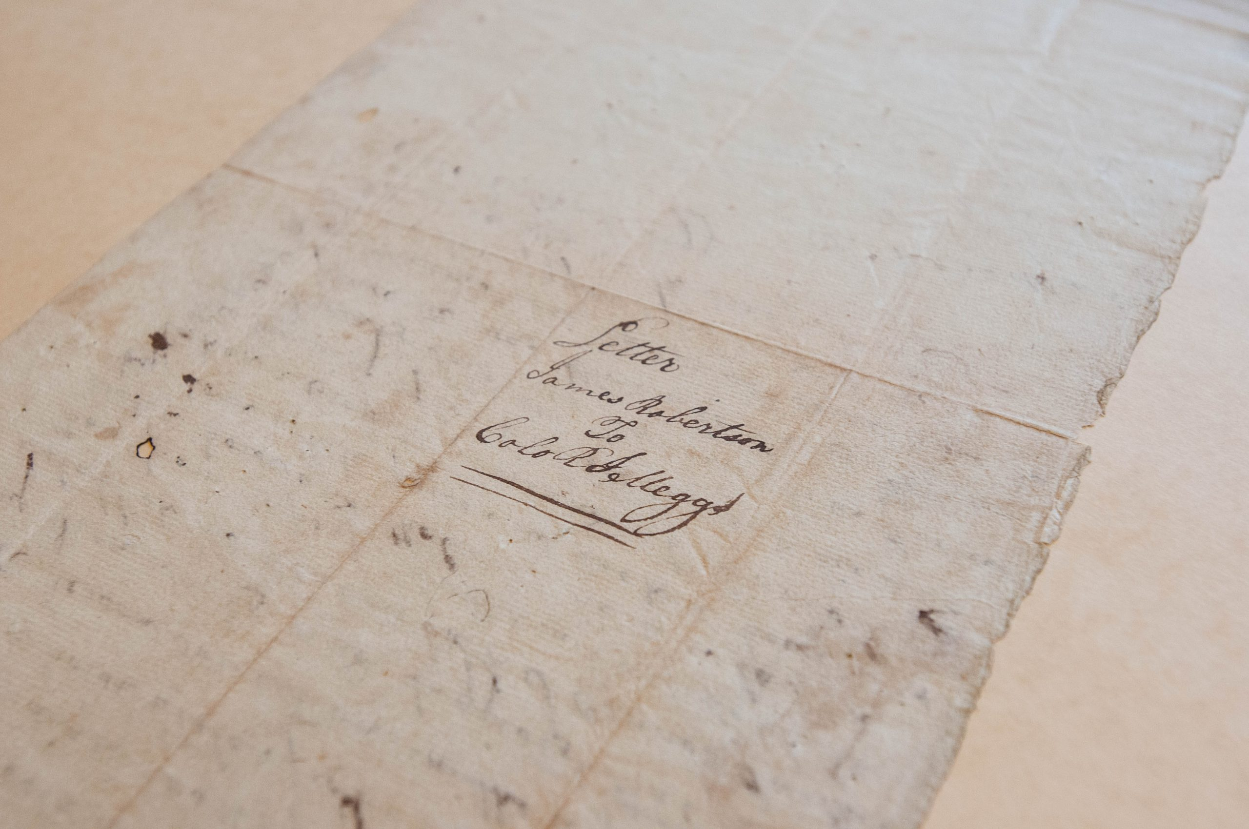 Letter from James Robertson to Return Jonathan Meigs