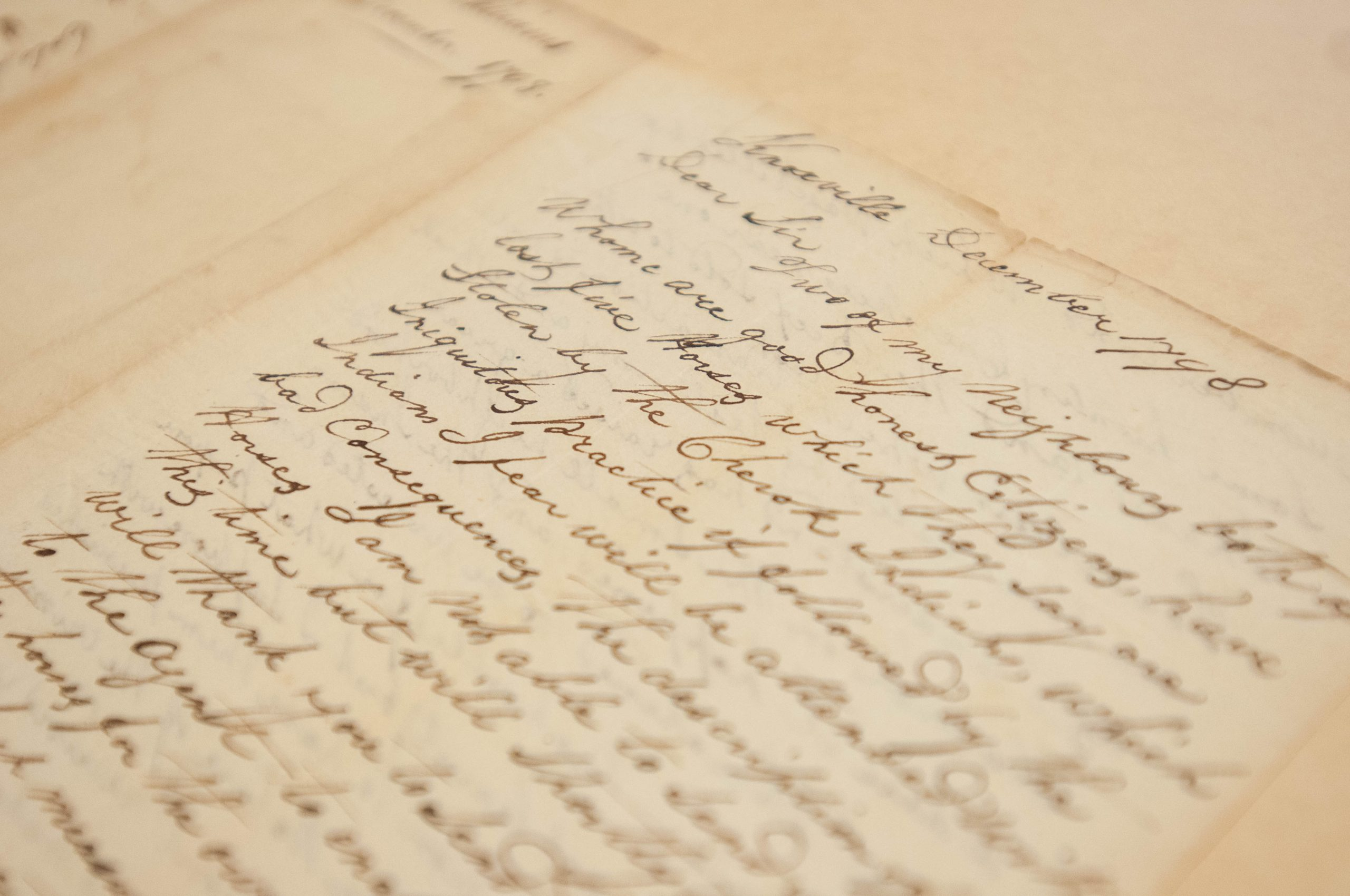 Letter from Sampson Williams to Colonel David Henley
