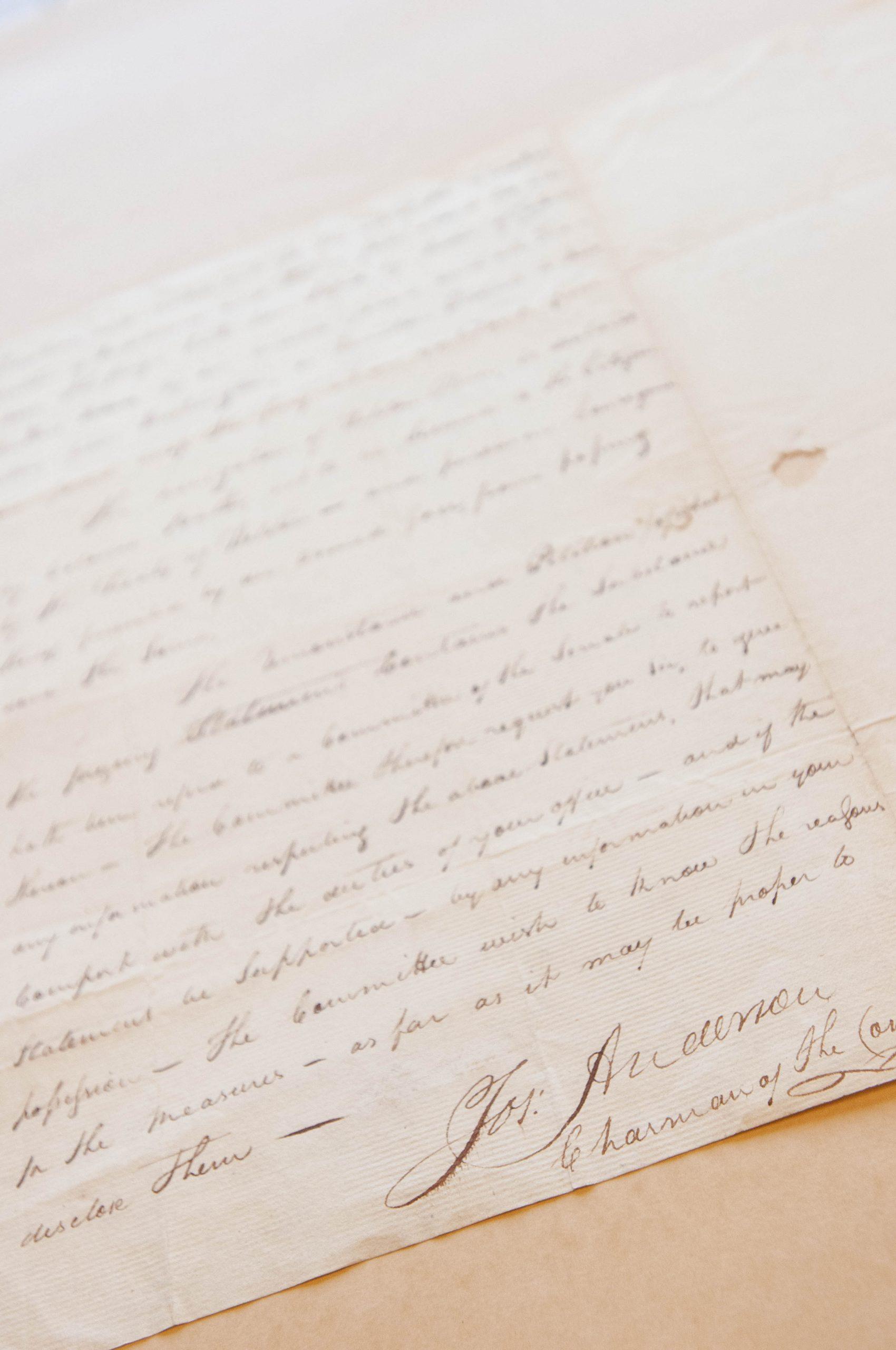 Letter from Senator Joseph Anderson to Secretary of War James McHenry