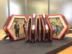 Concertina artist book in UT Libraries' special collections