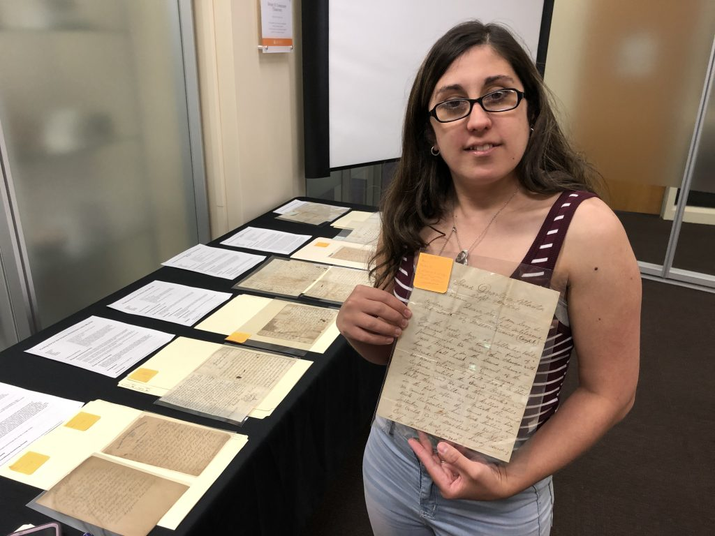Handwritten letters from Civil War soldiers