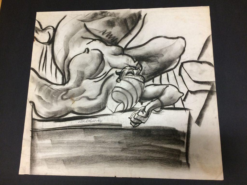sketch (nude) by Joseph Delaney